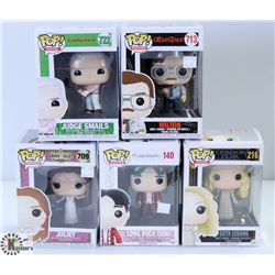 LOT OF FIVE FUNKO POPS: ASSORTED MOVIES PACK.