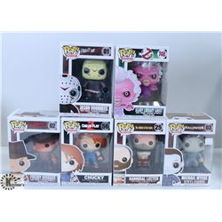 LOT OF SIX  FUNKO POPS: ASSORTED MOVIES PACK.