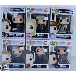 LOT OF SIX FUNKO POPS: MODERN FAMILY & BIG BANG