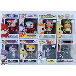 LOT OF EIGHT FUNKO POPS: ASSORTED ANIMATION THEME