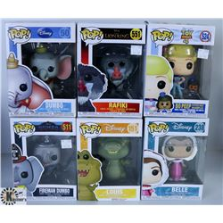 LOT OF SIX FUNKO POPS: DISNEY & PIXAR PACK.