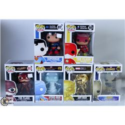 LOT OF SIX FUNKO POPS: ASSORTED MARVEL