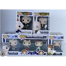 LOT OF FOUR FUNKO POPS: SNL & HISTORIC ICONS PACK
