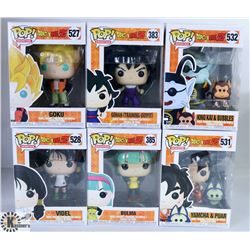 LOT OF SIX FUNKO POPS: ANIMATION PACK