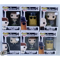 LOT OF SIX FUNKO POPS: ASSORTED ADDAMS FAMILY PACK