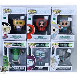 LOT OF SIX FUNKO POPS: ASSORTED SOUTH PARK AND