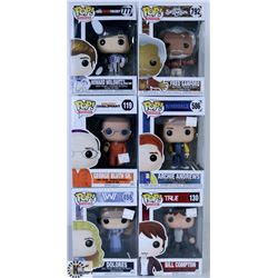 LOT OF SIX FUNKO POPS: ASSORTED TV SHOWS PACK.
