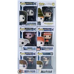 LOT OF SIX FUNKO POPS: ASSORTED HARRY POTTER PACK.