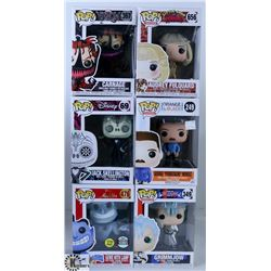LOT OF SIX FUNKO POPS: ASSORTED VARIETY PACK.