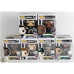 LOT OF SIX FUNKO POPS: FOOTBALL PACK: INCLUDES