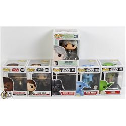 LOT OF SIX FUNKO POPS: STAR WARS AND DOROTHY,