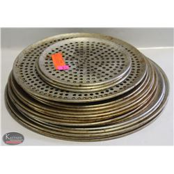 BAILIFF SEIZURE GROUP OF PERFORATED PIZZA PANS