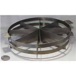 2 STAINLESS STEEL PIZZA CUTTERS- 6 & 8 DIVISIONS