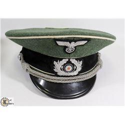 GERMAN WWII VISOR HAT FIELD GRAY.