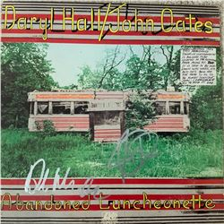 Signed Hall + Oates Abandoned Luncheonette Album Cover