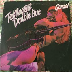 Signed Ted Nugent Double Live Album Cover