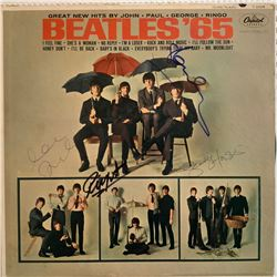 Signed Beatles Beatles '65 Album Cover