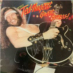 Signed Ted Nugent The Best of Ted Nugent Great Gonzos Album Cover