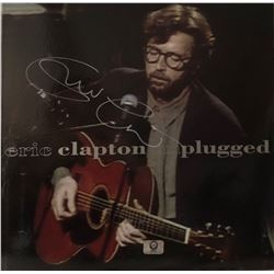 "Signed Eric Clapton ""Eric Clapton Unplugged"" Album Cover"