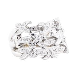 0.15 ctw Diamond Mesh Ring - 14KT White Gold