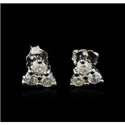 14KT White Gold 0.80 ctw Diamond Earrings