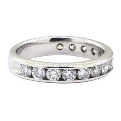 1.00 ctw Diamond Band - 14KT White Gold