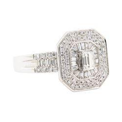 1.04 ctw Diamond Ring - 18KT White Gold