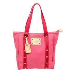 Louis Vuitton Pink Toile Canvas Antigua Cabas MM Tote Bag
