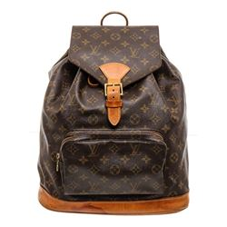 Louis Vuitton Monogram Canvas Leather Montsouris GM Backpack Bag