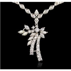 14KT White Gold 3.82 ctw Diamond Necklace