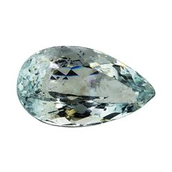 5.63 ct.Natural Pear Cut Aquamarine