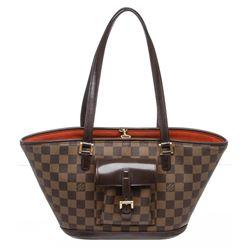 Louis Vuitton Damier Ebene Canvas Leather Manosque PM Shoulder Bag