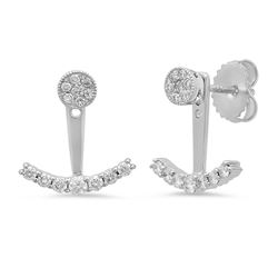 14k Gold 0.41CTW Diamond Earrings, (I1-I2/H-I)