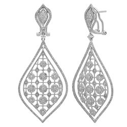 14k White Gold 2.71CTW Diamond Earrings, (I1/G-H)