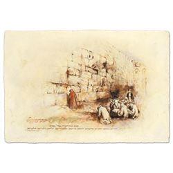 Print Prayer At The Kotel by Horen, Brachi
