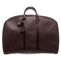 Louis Vuitton Burgundy Taiga Leather Helanga 1 Poche Travel Duffle Bag