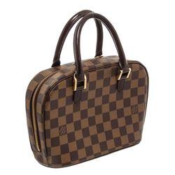 Louis Vuitton Damier Ebene Canvas Leather Sarria Mini Bag