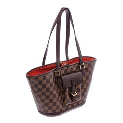 Louis Vuitton Damier Ebene Canvas Leather Manosque PM Shoulder Bag