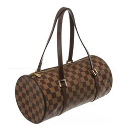 Louis Vuitton Damier Ebene Canvas Leather Papillon 30 Bag