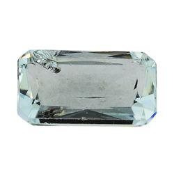 8.40 ct.Natural Emerald Cut Aquamarine