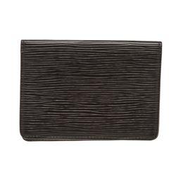 Louis Vuitton Black Epi Leather Bifold ID Holder