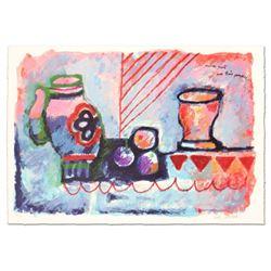 Limited Edition Nature Morte Avec Trois Pommes by Tobiasse (1927-2012)