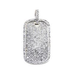 5.15 ctw Diamond Pendant - 14KT White Gold