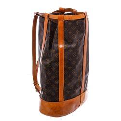 Louis Vuitton Monogram Canvas Leather Randonne Backpack Bag