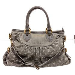 Louis Vuitton Blue Denim Monogram Neo Cabby MM Bag