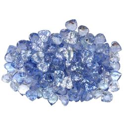14.33 ctw Round Mixed Tanzanite Parcel