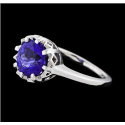 2.30 ctw Tanzanite Ring - Platinum