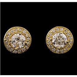 1.34 ctw Diamond Earrings - 14T Yellow Gold