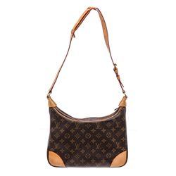 Louis Vuitton Monogram Canvas Leather Boulogne 30 PM Bag