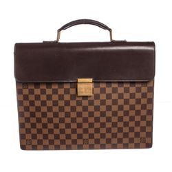 Louis Vuitton Damier Ebene Canvas Leather Altona PM Briefcase Bag